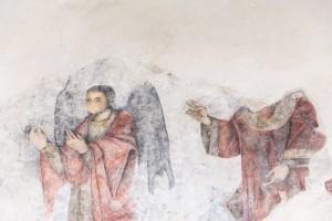 Οι αποκαλυφθείσες εσχάτως αγιογραφίες που υπήρχαν στο ιερό του ναού και οι οποίες δεν έχουν εισέτι χρονολογηθεί ( Ίσως είναι παλαιοχριστιανικές )